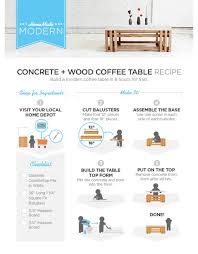 wood table top home depot 5 home depot hacks concrete wood diy concrete and wood coffee tables