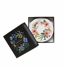 herb garden coaster set by rifle paper co made in usa
