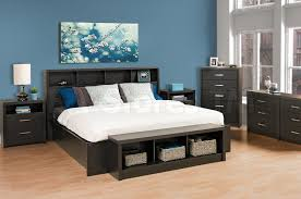Black Lacquer Bedroom Furniture Prepac District 6 Pc King Bedroom Set Washed Black Bedroom