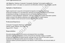 Sample Resume For Radiologic Technologist by Ct Technologist Resume Reentrycorps