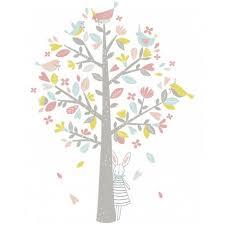 stickers arbre chambre enfant sticker chambre d enfant arbre oiseaux et vert lilipinso