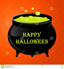 witches pot for halloween with green potion stock vector image