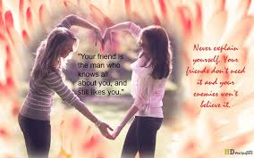 friendship heart heart touching quotes withpic of girl and girl friendship