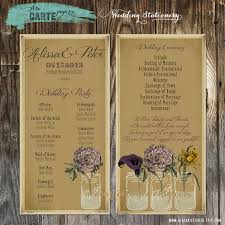 ceremony cards for weddings rustic wedding ceremony cards wedding program by alacartestudio
