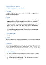 document control procedure for legal practices