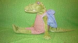 ikea fabler crocodile alligator with backpack plush stuffed animal