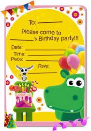 babytv birthday invitations
