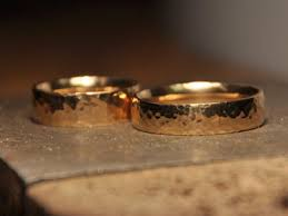 make your own wedding band make your own wedding rings hammered gold