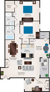 two bed two bath floor plans house plan two bath floor unique 2br den bedroom apartments in