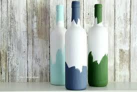 painted wine bottles wine bottle vases hometalk