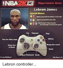 Lebron James Crying Meme - nba player control moves lebron james special moves make yourself