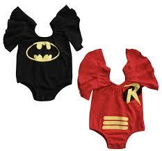 Infant Robin Costume Baby Batman Robin Ruffle Onesie Romper Costume U2013 Glam