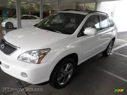 lexus white pearl 2006 lexus rx 400h awd hybrid in crystal white pearl 012117