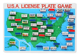 Usa License Plate Map by Kids U0027 Guide To Learning The U S States Lasso The Moon