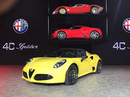watch now 2016 alfa romeo 4c spider live stream debut at 2015