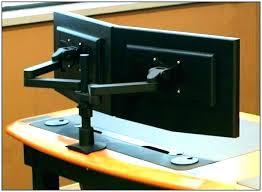Computer Desk For Two Monitors Multi Monitor Computer Desk Keepassa Co