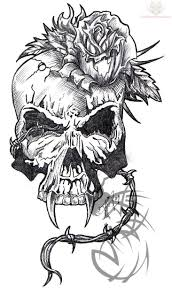 skull mask and gun tattoo image photos pictures and sketches