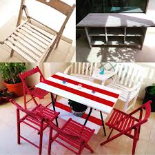 Patio Furniture Ikea by Ikea Hack Took Some Old Terje Chairs And Leksvik Coffee Table To