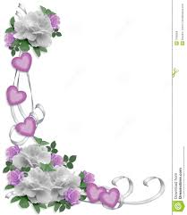 floral border roses and gardenias wedding invitation border bg