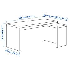 malm schreibtisch mit ausziehbarer platte eichenfurnier 002 141