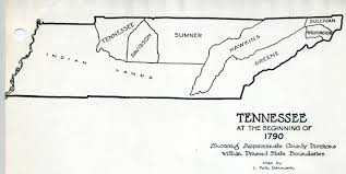 State Map Of Tennessee by Some Early Nc Maps