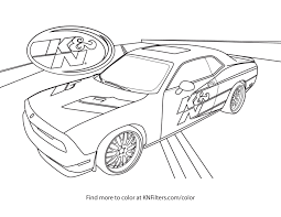 Dodge Challenger Drawing - k u0026n printable coloring pages for kids