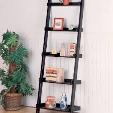Short Ladder Bookcase Decorating Contemporary Leaning Bookcase Ideas U2014 Somvoz Com