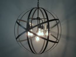 Chandelier With Edison Bulbs Industrial Orb Chandelier Ceiling Light Sphere 24