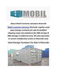 mobil container solutions steel storage container for sale in