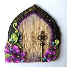 Garden And Home Decor Mermaid Tale Fairy Door Polymer Clay Miniature Fairy Garden Ocean