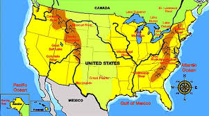 united states map with rivers and mountain ranges us geography map puzzle us mountains and rivers deserts and maps