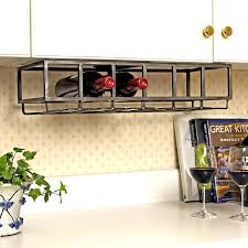 Kitchen Cabinet Wine Rack Ideas Under Cabinet Wine Rack Small Capacity Wine Racks For Countertops
