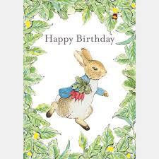 rabbit birthday rabbit birthday card beatrix potter shop