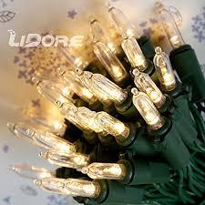 lidore set of 50 super bright led clear mini christmas tree decor