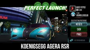 koenigsegg agera rsr racing rivals koenigsegg agera rsr perfect launch tutorial youtube