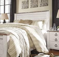 Whitewash King Bedroom Furniture Willowton Whitewash King Panel Bed From Ashley Coleman Furniture