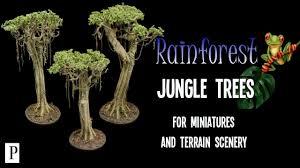 how to make rainforest jungle trees for miniature terrain scenery