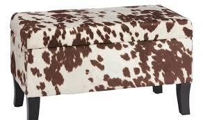 bench zebra print storage ottoman mahogany bookcases for animal