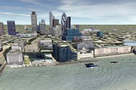 the london 3d project and google earth sketchup 3d rendering