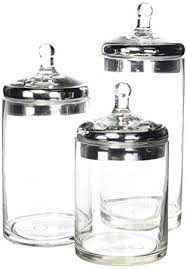 kitchen glass canisters with lids fifth avenue 3 glass canisters with silver lids