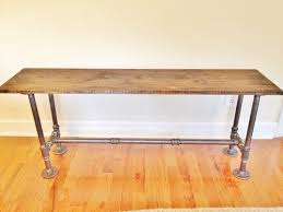 Wood Bench With Metal Legs Bench Handmade Bench Wooden Bench Dining Bench Entry Bench