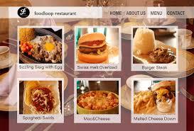 sample website design foodloop restaurant by bearypink on deviantart