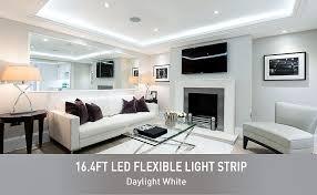 led daylight strip light amazon com oak leaf 16 4ft waterproof flexible led strip lights 300
