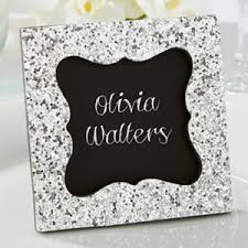 picture frame wedding favors sparkle and shine silver glitter frame favors