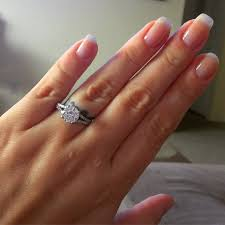 engagement rings size 8 1 2 carat solitaire on size 8 finger weddingbee
