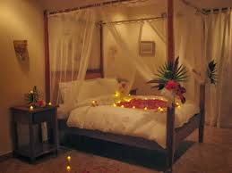 decorative bed with and candles collection picture flower