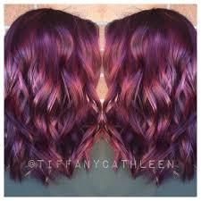Frisuren Wilder Bob by Vibrant Amethyst Toned Wavy Purple Hair Cut In A Bob