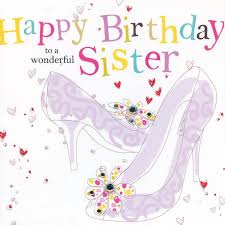 hand finished sister birthday card karenza paperie