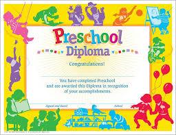 preschool diploma classic diploma preschool 30 pk 8 1 2 x 11 t 17001 supplyme