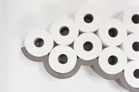 clever concrete cloud toilet paper holder design milk